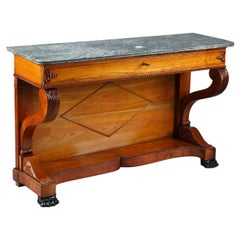 Large Cherry Wood Console, 19th Century