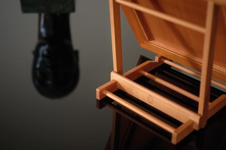 Modern Gae Aulenti Large Chevalet d'Orsay Wooden Easel for Frames by Bottega Ghianda For Sale