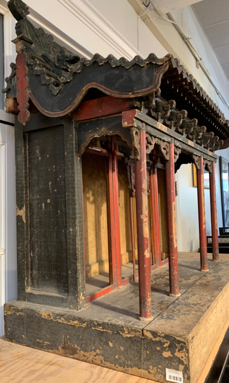 Large Chinese Ancestral Hall Architectural Model, Qing Dynasty, 18th Century For Sale 6