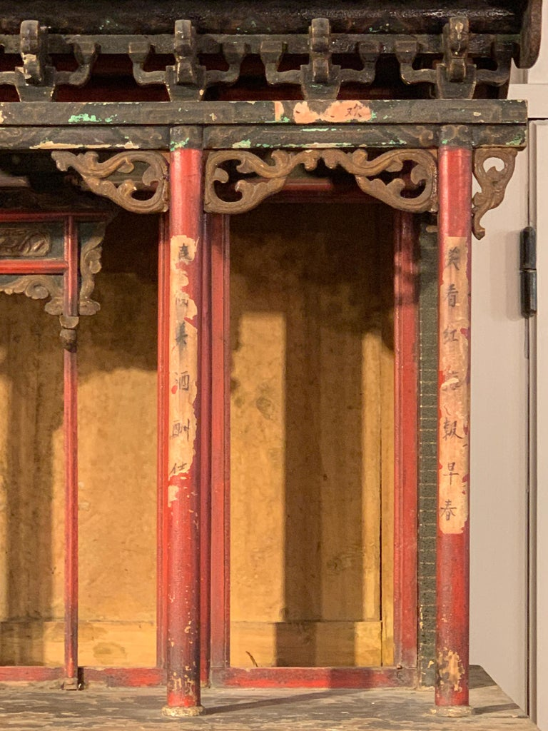 Large Chinese Ancestral Hall Architectural Model, Qing Dynasty, 18th Century For Sale 2