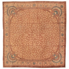 Large Chinese Art Deco Rug with Pastel Colors
