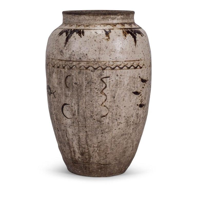 Large Chinese Cizhou Stoneware Wine Jar For Sale 4