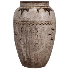 Large Chinese Cizhou Stoneware Wine Jar