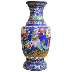 Large Chinese Cloisonné Baluster Vase