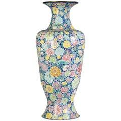 Large Chinese Cloisonné Enamel Baluster Vase, circa 1880