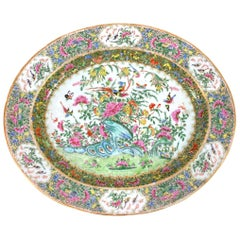 Large Chinese Export Porcelain Famille Rose Medallion Platter, Canton, ca. 1820