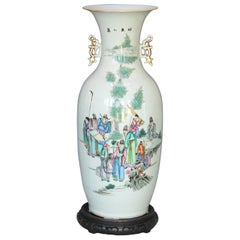 Large Chinese Famille Verte Vase, 19th Century