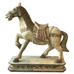 Large Chinese Horse Made from Bone