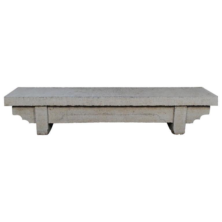 Large Chinese Limestone Doon Bench