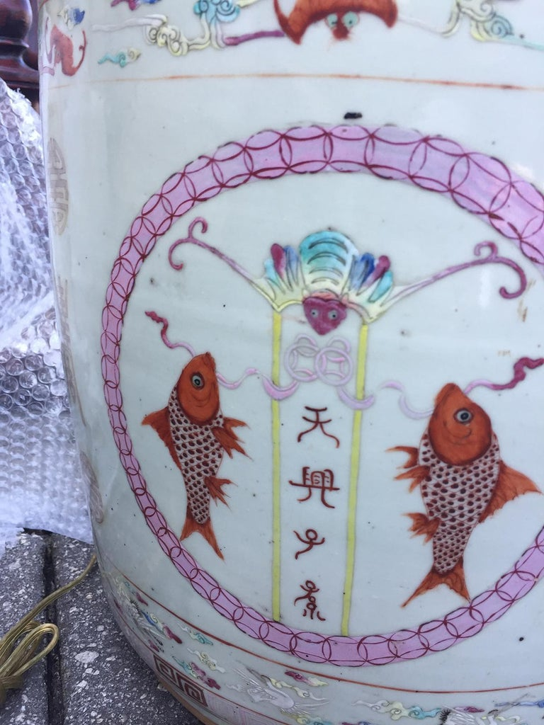 20th Century Large Chinese Porcelain Cachepot Planter, circa 1900 For Sale
