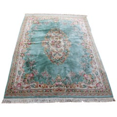 Large Chinese Rug Aubusson Carpet Savonnerie Thick Wool Pile