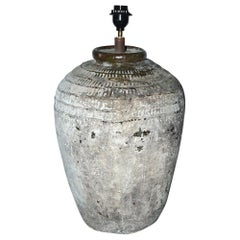 Large Chinese Storage Wine Jar Lamp