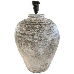 Large Chinese Storage Wine Jar Lamp
