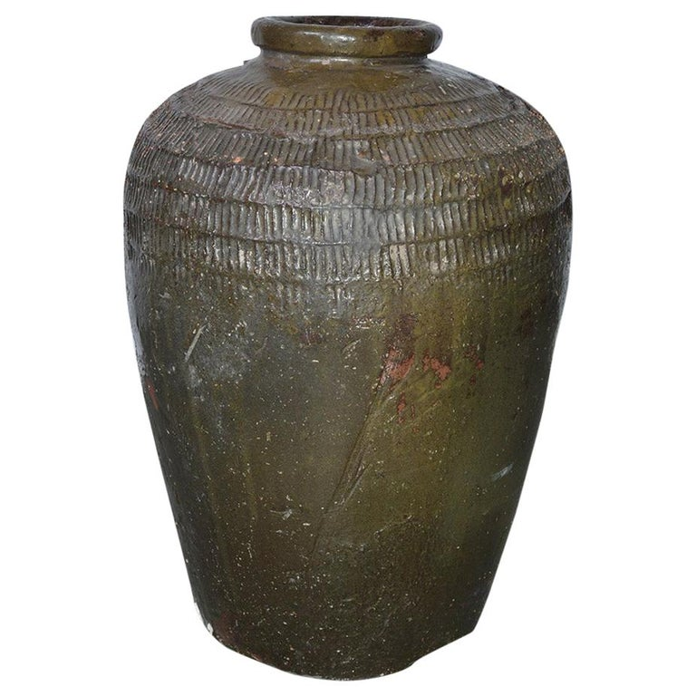 Large Chinese Wine Storage Jar For Sale