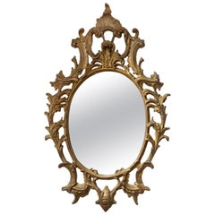 Large Chippendale Style Giltwood Rococo Mirror, circa 1860