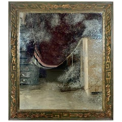 Large Chippendale Style Painted Mirror