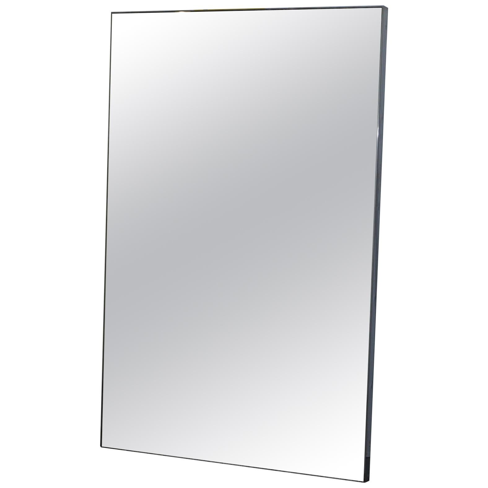 Large Chrome Framed Full Sized Mirror Back Light Floor Standing