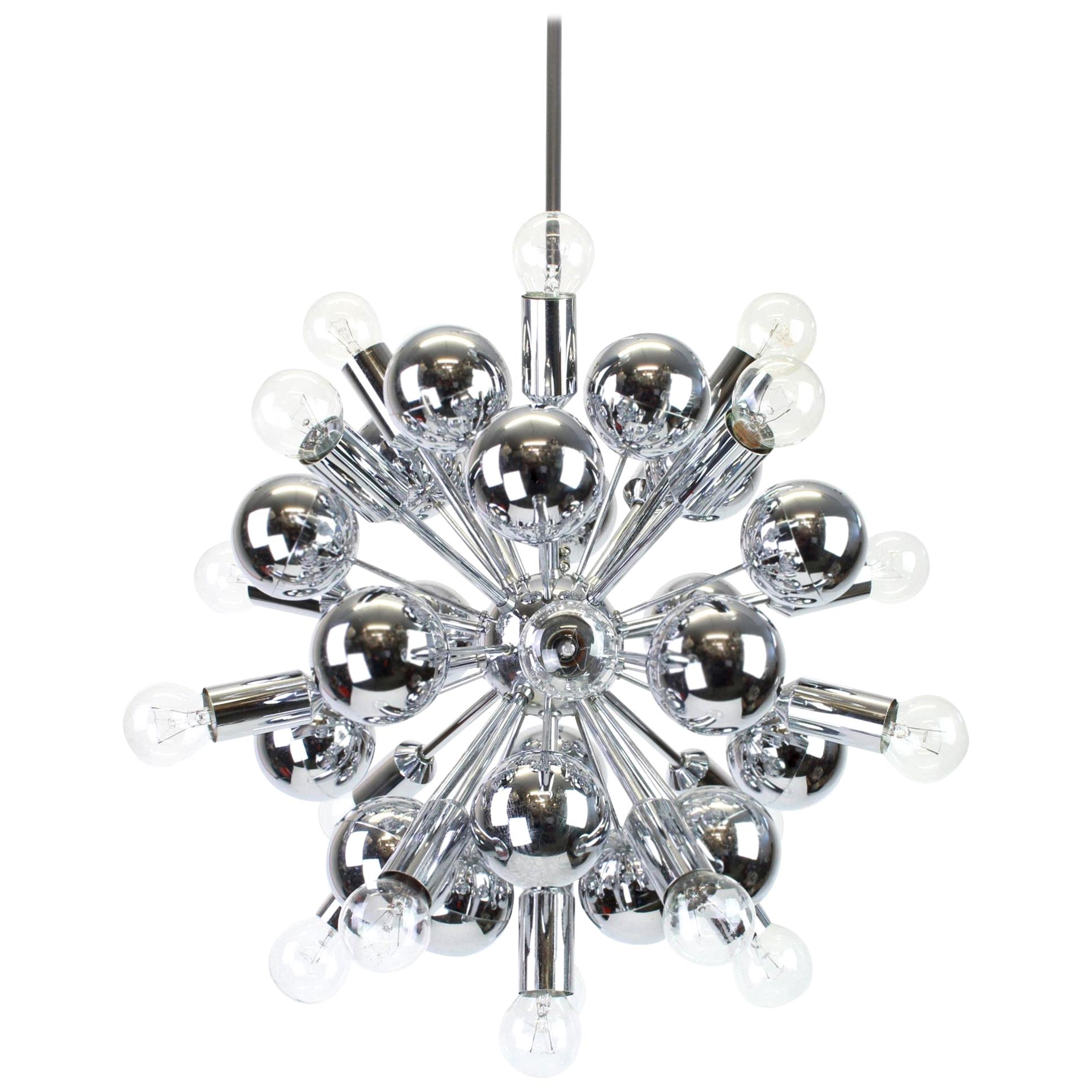 Large Chrome Space Age Sputnik Chandelier by Cosack, Germany, 1970s