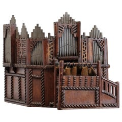 Large Church Organ Architectural Scale Model, English, 19th Century, Mixed Woods