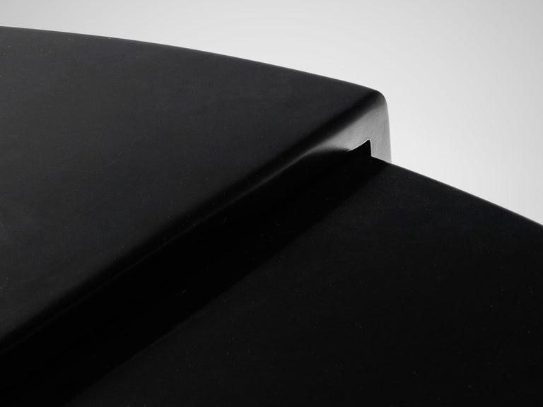 Large Cini Boeri for Knoll 'Gradual' Set in Black Leather For Sale 7
