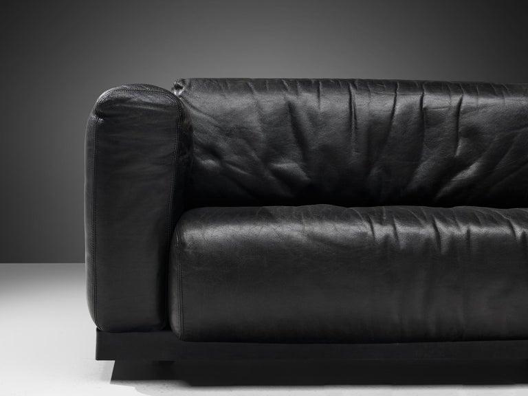 Mid-Century Modern Large Cini Boeri for Knoll 'Gradual' Set in Black Leather For Sale