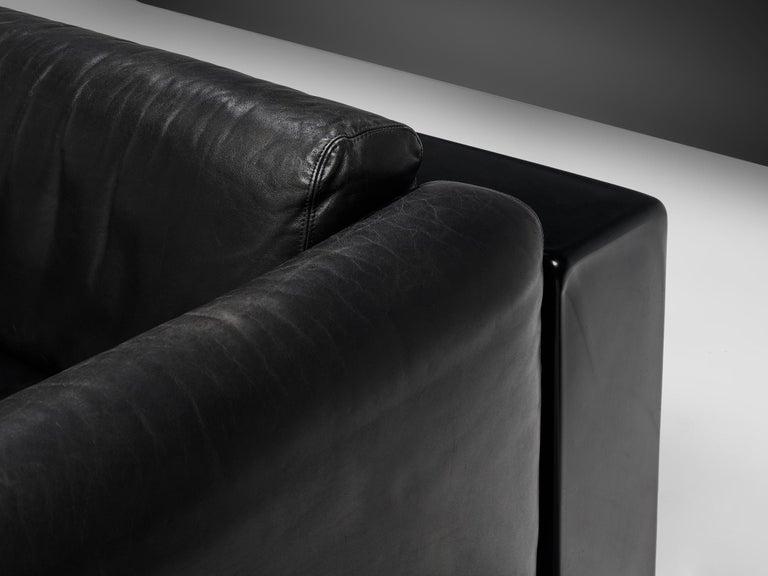 Large Cini Boeri for Knoll 'Gradual' Set in Black Leather For Sale 1