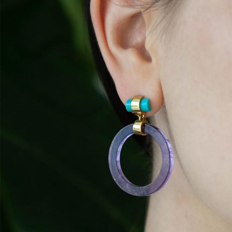 The Large Circle Hoops reflect on the inherent beauty of a shape that represents unity, inclusivity and timelessness. Circles have no beginning or end; they represent life and the lifecycle. These earrings illuminate the profound simplicity of the