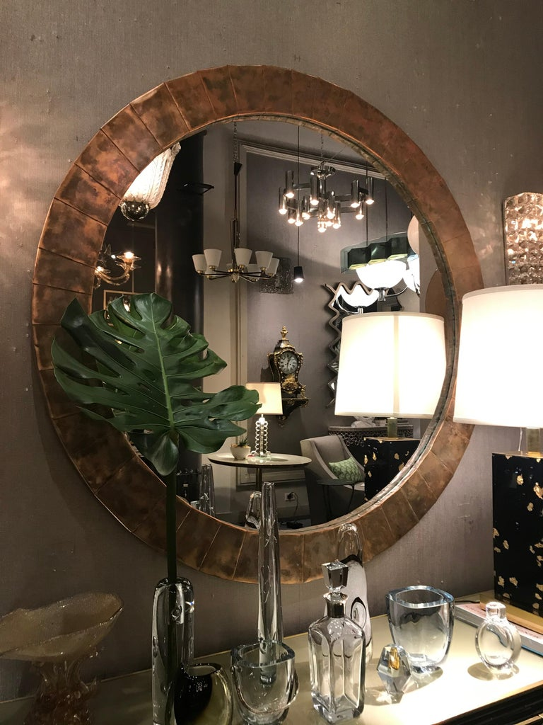 French Large Circular Mirror For Sale