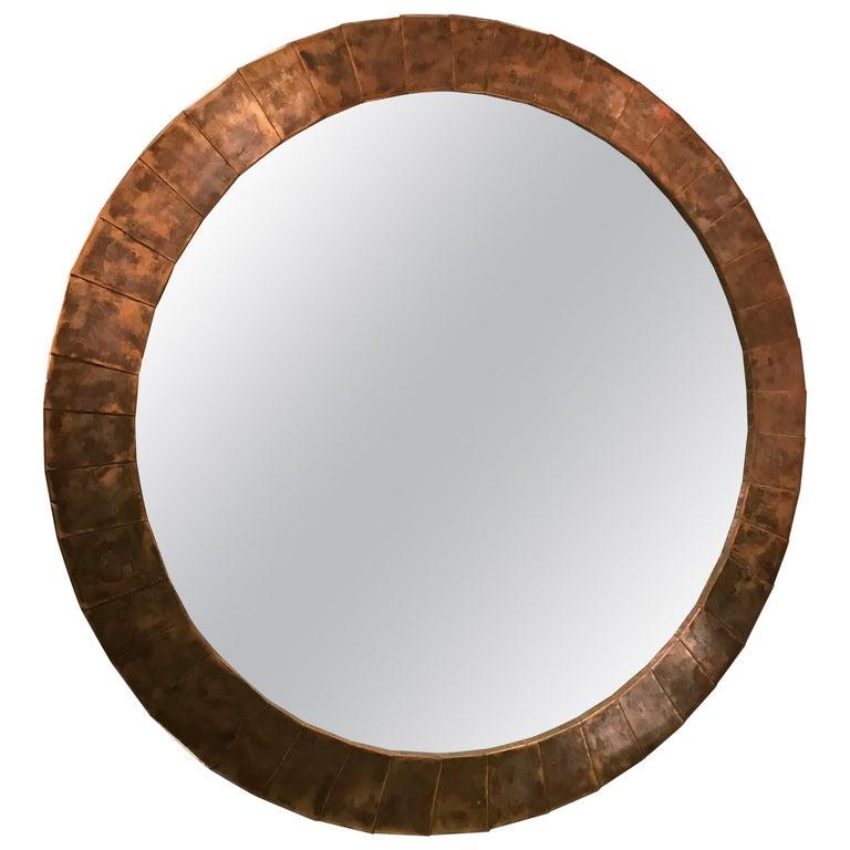 Large Circular Mirror For Sale