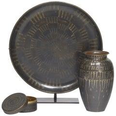 Large Circular Plate, circa 1920