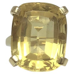 Large Citrine and Gold Cocktail Ring