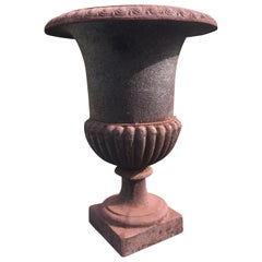 Large Classic 19th Century French Cast Iron Urn