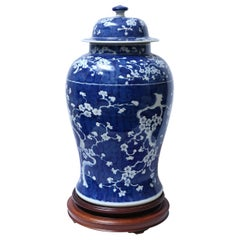 Large Classic Chinese Blue and White Urns