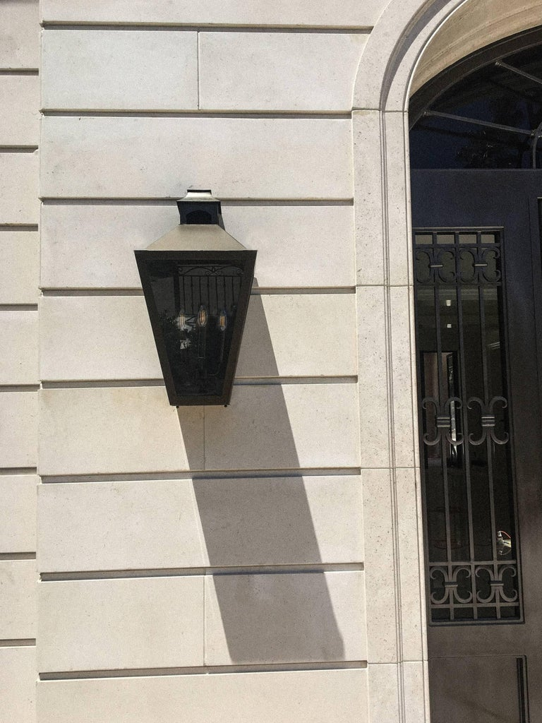 Large classic georgian style custom produced bronze - Georgian style exterior lighting ...