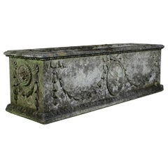 Large Classical Weathered Composition Stone Planter