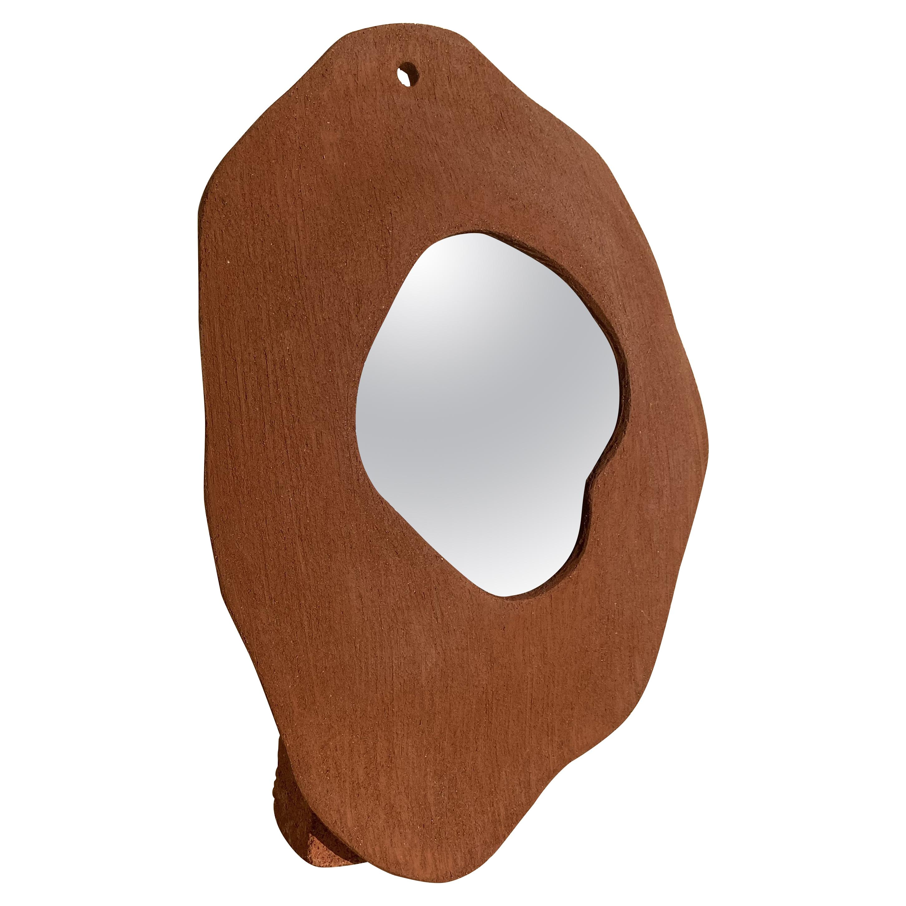 Large Clay Mirror by Olivia Cognet