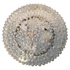 Large Clear Bubble Flush Mount by Staff Leuchten of Germany, 1970s