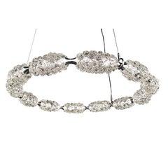 Large Clear Glass Ice Bracelet by Studio Bel Vetro