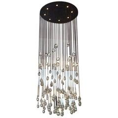 Large Clear Light Drop Chandelier by Studio Bel Vetro