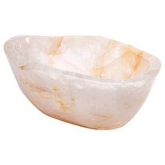 Large Clear Quartz Bowl from Madagascar Perfect for Wine and Champagne Cooler