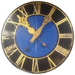 Large Decorative Clock Face Wall Plaque from France