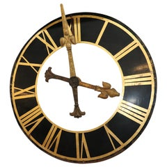 Large Clock Face, with Gilt Iron Hands
