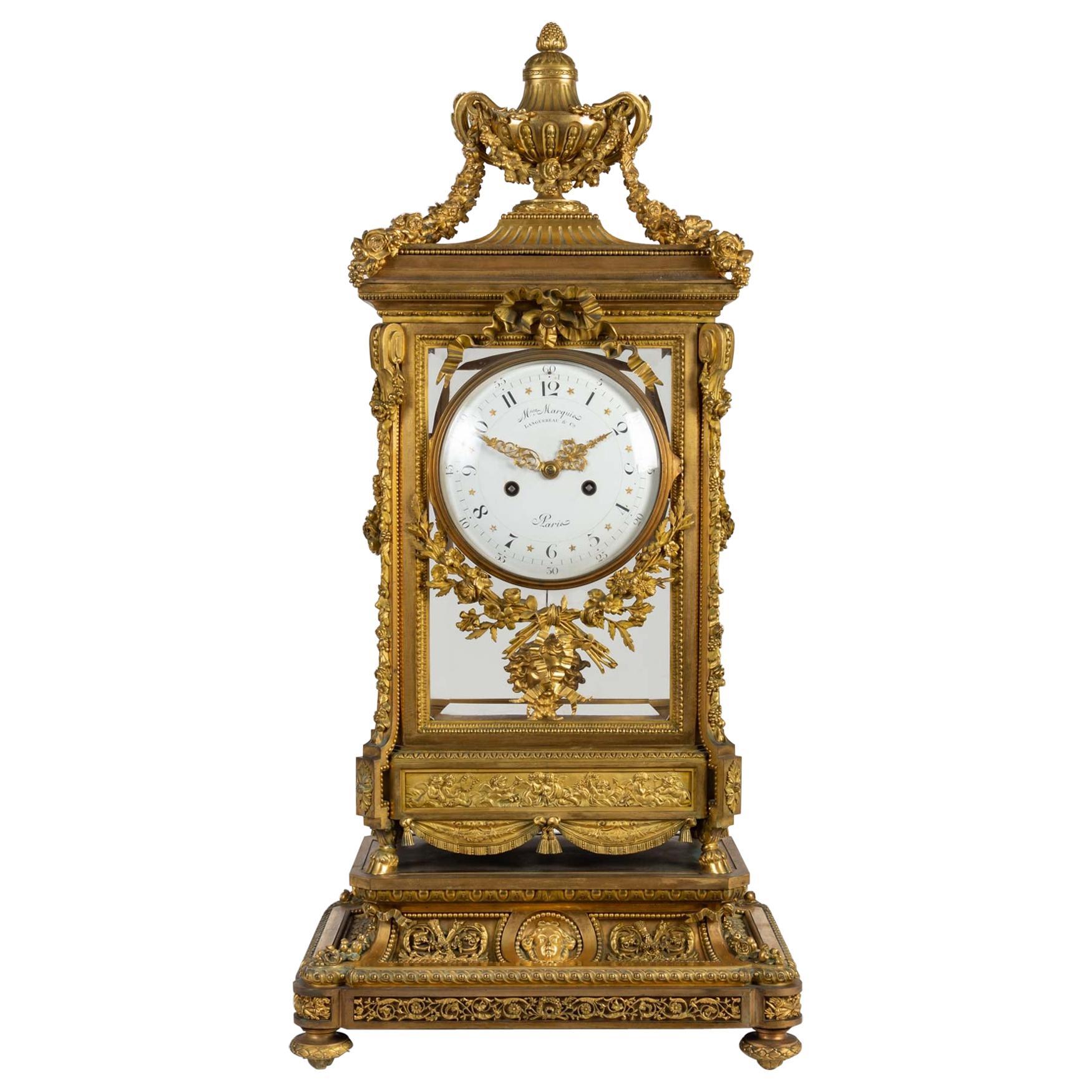 Large Clock, Louis XVI Style, 19th Century