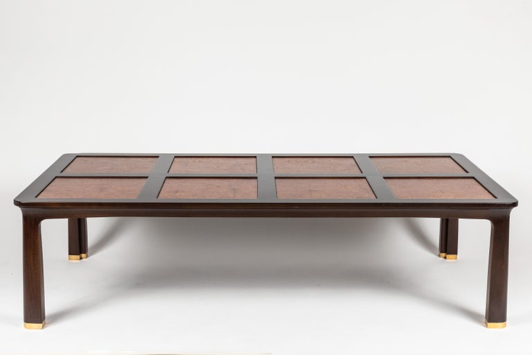 Polished Large Cocktail Table by Edward Wormley for Dunbar Furniture For Sale