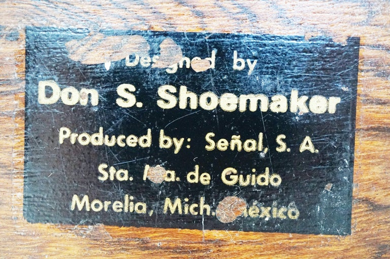 Large Cocobolo Rosewood Lidded Box by Don Shoemaker for Senal S.A., Signed For Sale 3