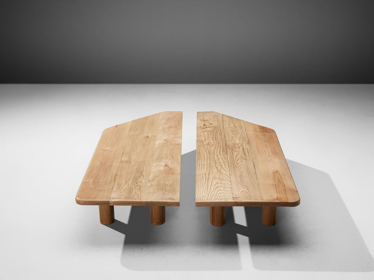 Scandinavian Large Coffee Table in Ash For Sale