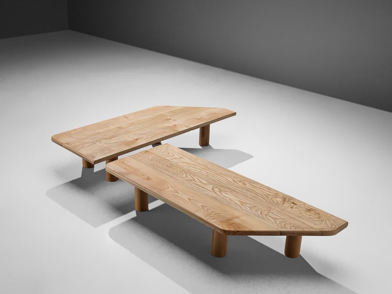 Large Coffee Table in Ash In Good Condition For Sale In Waalwijk, NL