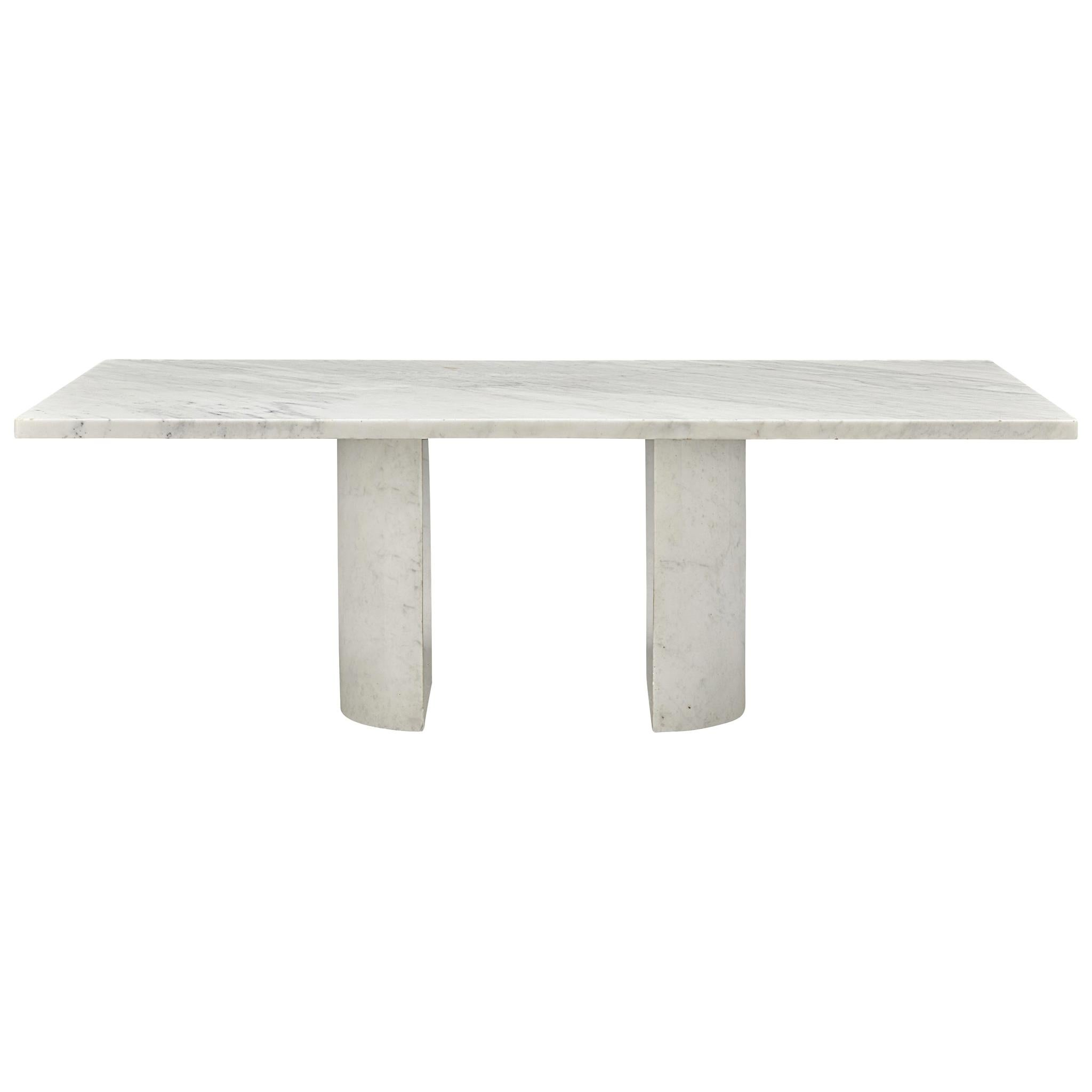 Large Coffee Table in Carrara Marble