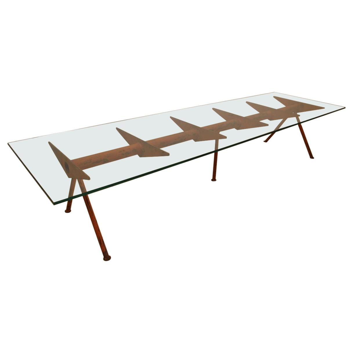 Large Coffee Table Year 50 Jean Prouvé Style