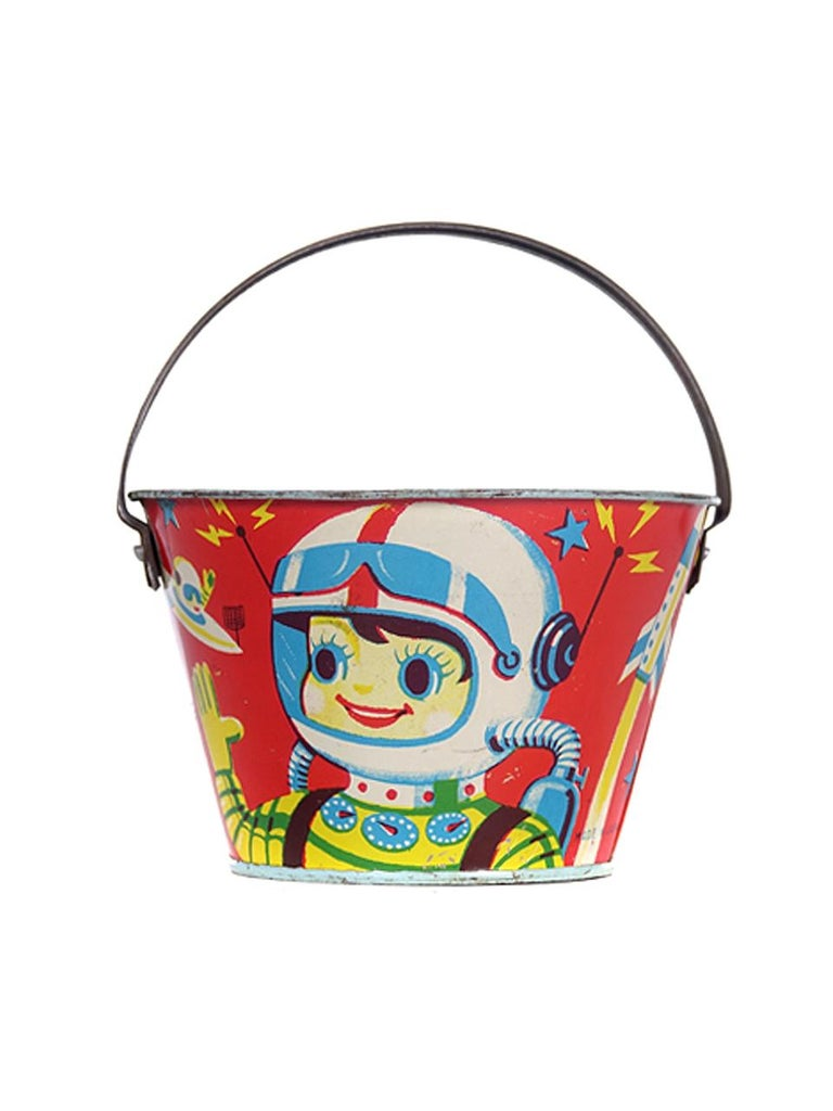 Industrial Large Collection of Antique Toy Pails For Sale